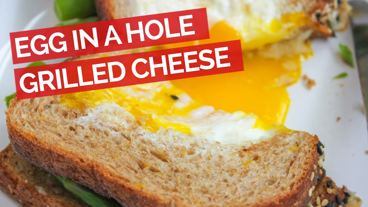 Egg in a Hole Grilled Cheese Recipe - YouTube
