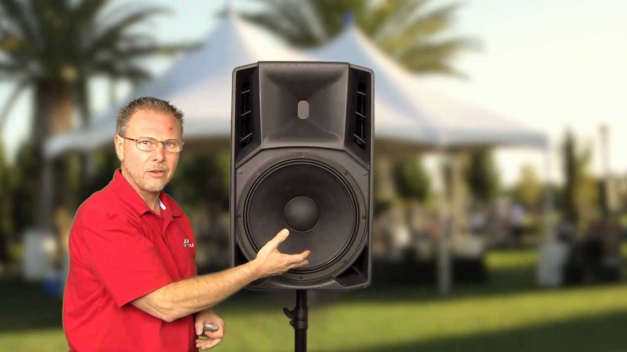 RCF Art725A Active Speaker overview, inside and out - Auth DLR for RCF  Speakers