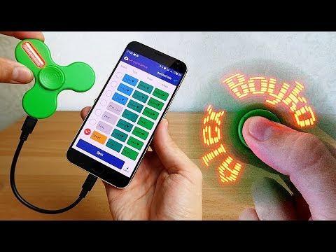 Программируемый Спиннер с Алиэкспресс! LED спиннер из Китая!