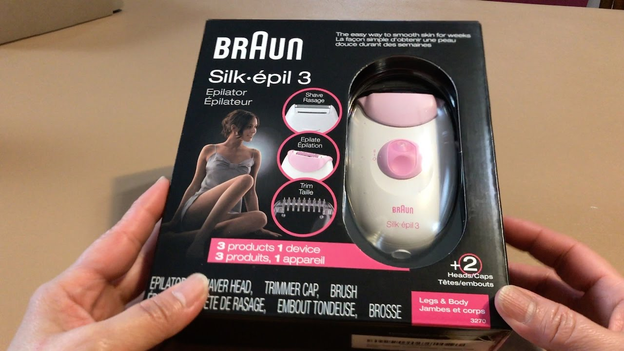 Braun Silk epil 3-3270 Epilator - Unboxed - YouTube a717483931
