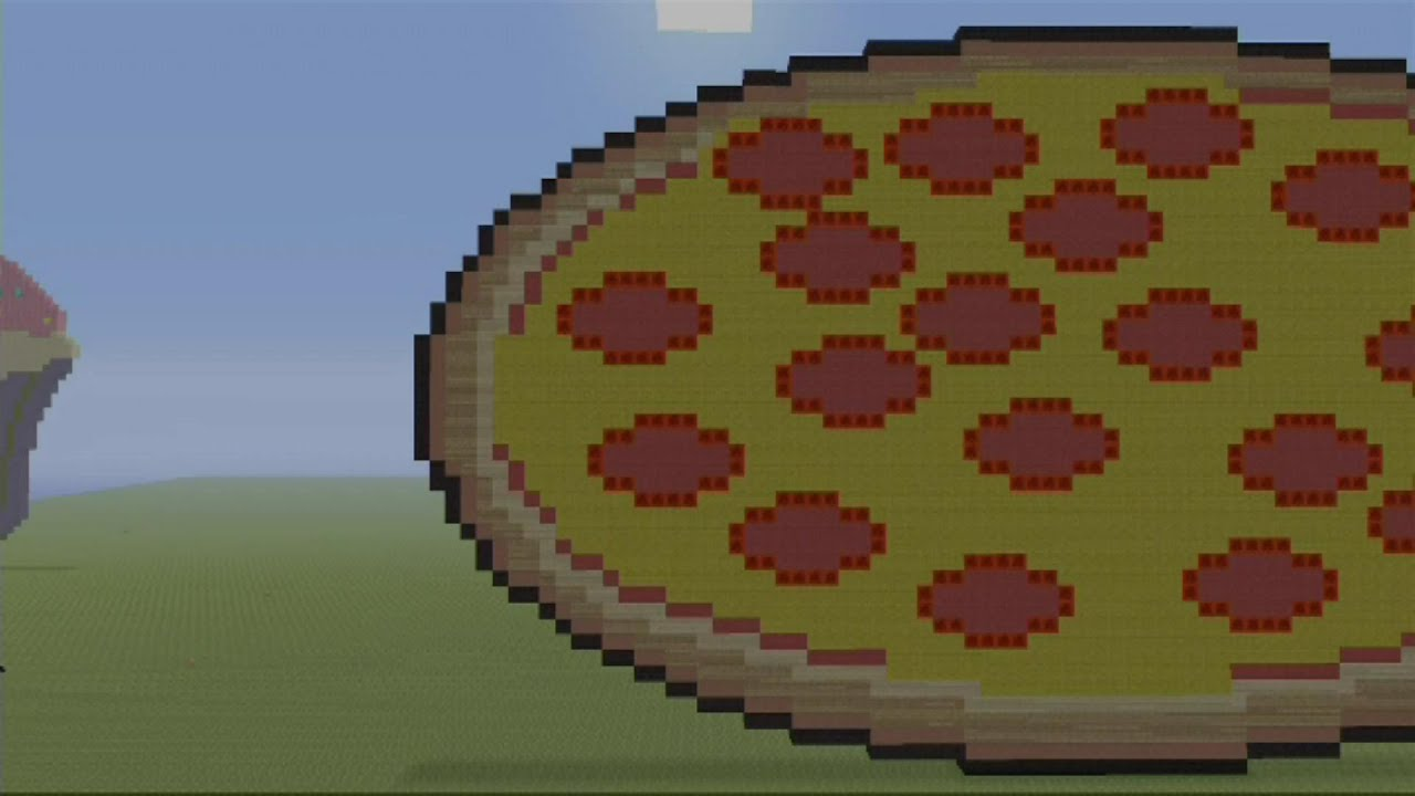 Minecraft pizza speed build mc pixel art youtube publicscrutiny Choice Image