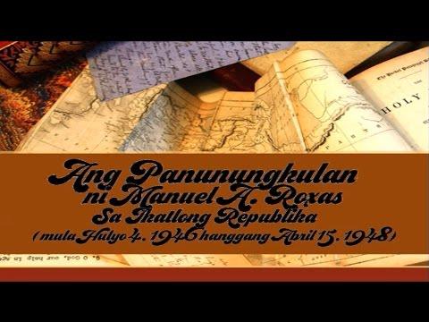 Ang Panunungkulan ni Manuel A. Roxas sa Ikatlong Republika ng Pilipinas