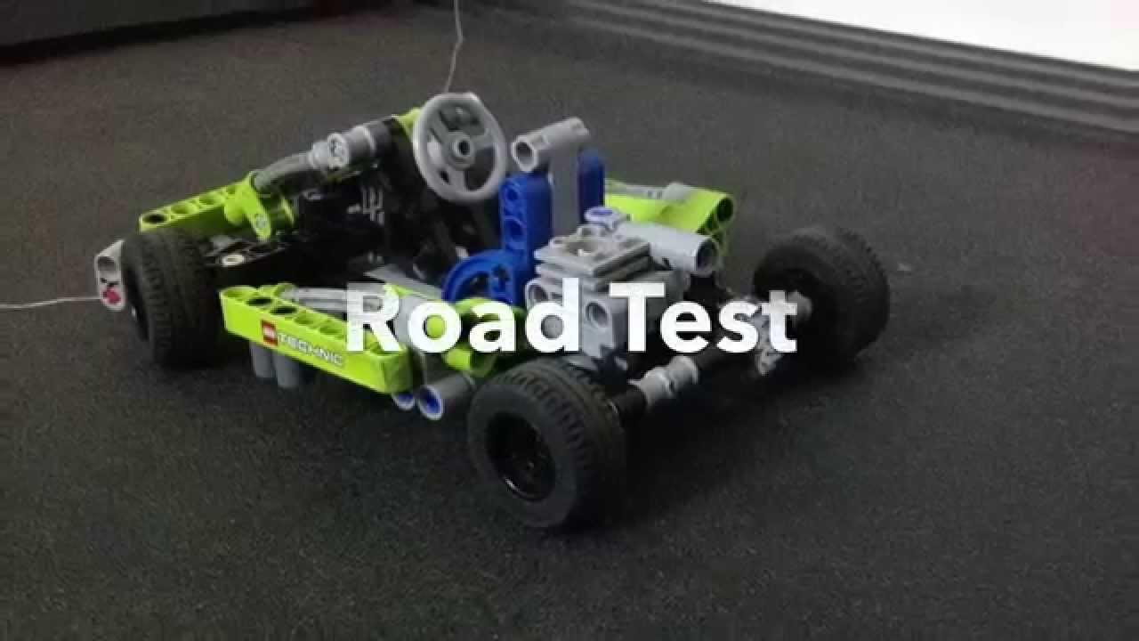 lego technic go kart road test crash test youtube. Black Bedroom Furniture Sets. Home Design Ideas