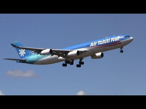 Air Tahiti Nui ► Airbus A340-300 ► Landing ✈ Auckland Airport