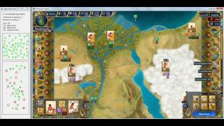 Predynastic Egypt: The optimum strategy. Turns 126-204
