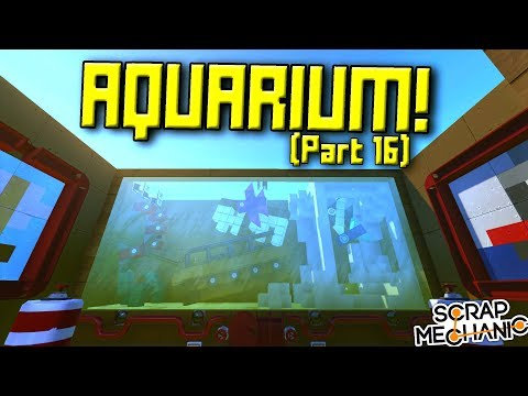 INTERACTIVE AQUARIUM, JACUZZI and MORE! (Suspended Mountain Base Part 16) - Scrap Mechanic Gameplay