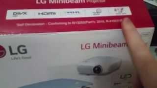 Projetor LED LG PW800 (Unboxing)  | BR