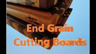 Walnut, Maple, and Cherry, End Grain Cutting Boards
