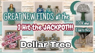 FANTASTIC NEW FINDS at the DOLLAR TREE + 2 BONUS  QUICK & EASY DIY's