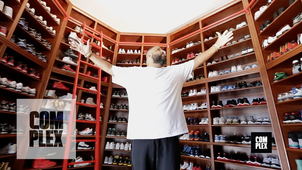 Complex Closets : DJ Khaled Shows His Sneaker Closet   YouTube
