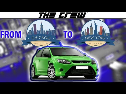 The Crew Beta | Travel from Chicago to New York | Ford Focus RS Stock