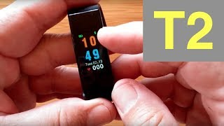 T2 Plus COLOR IP67 Waterproof Smart Band Blood Pressure Continuous Heart Rate: Unboxing & Review