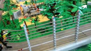 Electric Fence in the Jurassic Park Lego layout