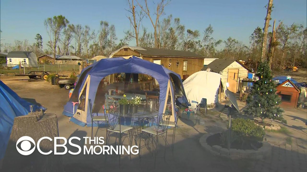Six months after Hurricane Michael, people are still living in tents