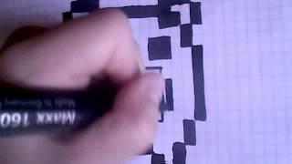 Рисуем по клеточкам свинку нет-нет не Пеппу/ 2 видео урок