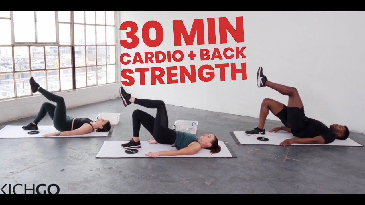 30 Minute Cardio + Posterior Chain Workout with Kit Rich (Modifications shown/ Medium Intensity)