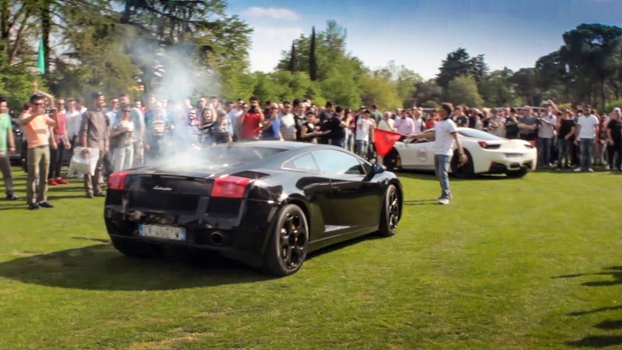 Lamborghini Gallardo Burning Clutch - Cars and Coffee ITALY Brescia ...