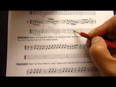 Music Theory Grade 1  Distinction 4 Beams