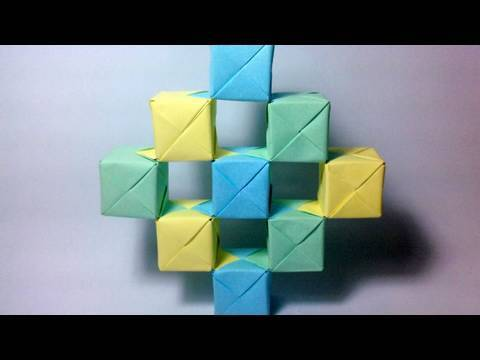 Origami Moving Cubes Using Sonobe Units Youtube