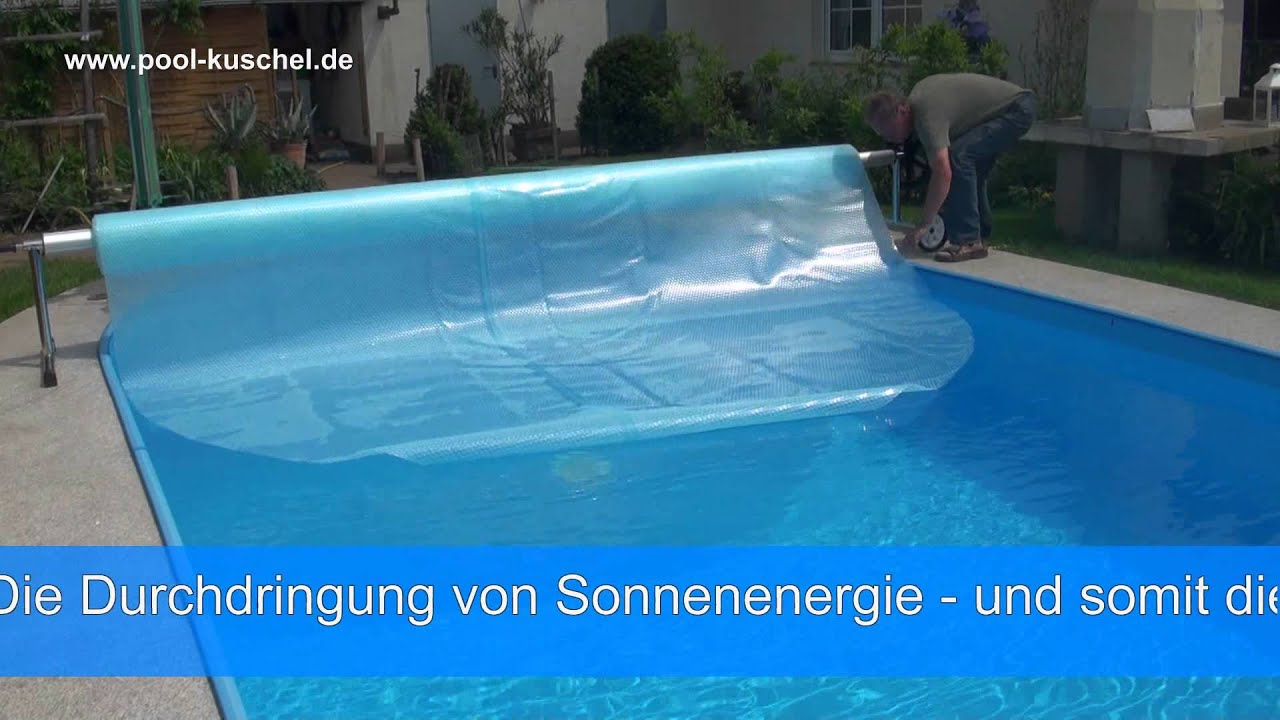 Pool Solarfolie Oval Schwimmbad Abdeckung Sunpower Youtube