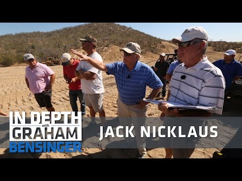 Jack Nicklaus on the job, designing his next courses