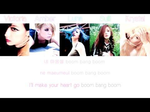 f(x) (에프엑스) - Boom Bang Boom Han/Rom/Eng Color/Member Coded Lyrics HD