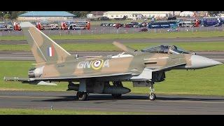 Powerful RAF Typhoon Takeoff & Landing at Prestwick Airport