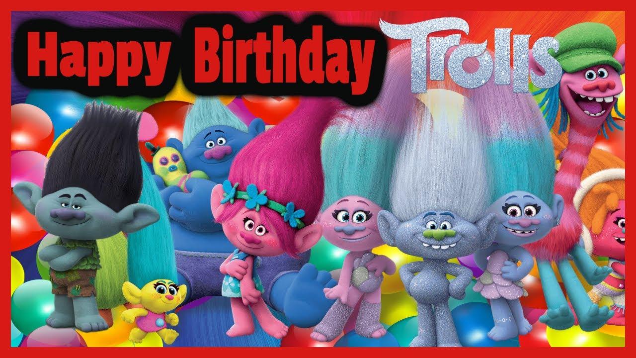 Trolls Disney Birthday Cake