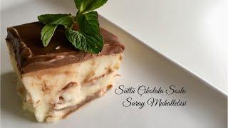 Sütlü Çikolata Soslu Saray Muhallebisi - Pratik Tatlı Tarifleri / Yemek Tarifleri - Melis'in Mutfağı