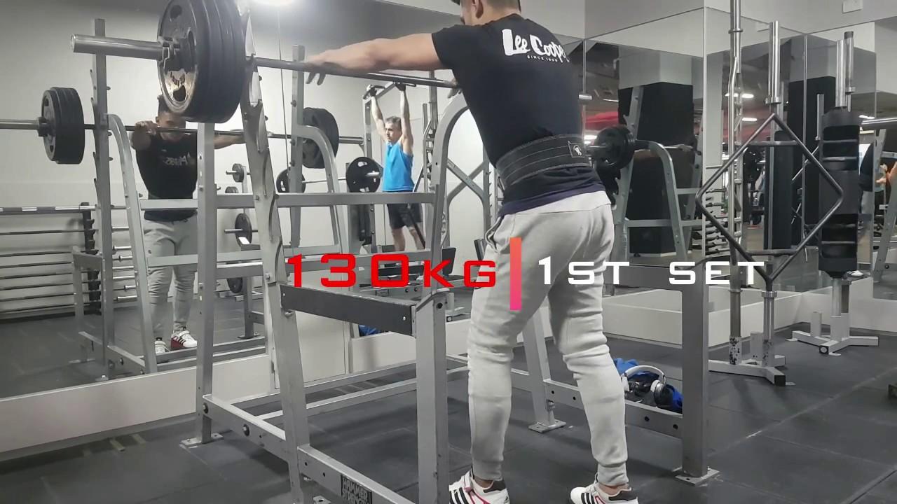 130kg PB x 4 sets