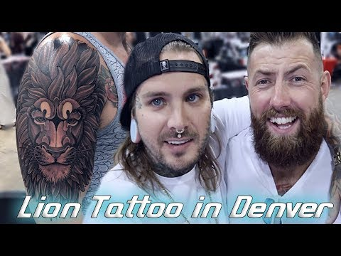 Huge Lion Tattoo Day One Of The Denver Tattoo Convention