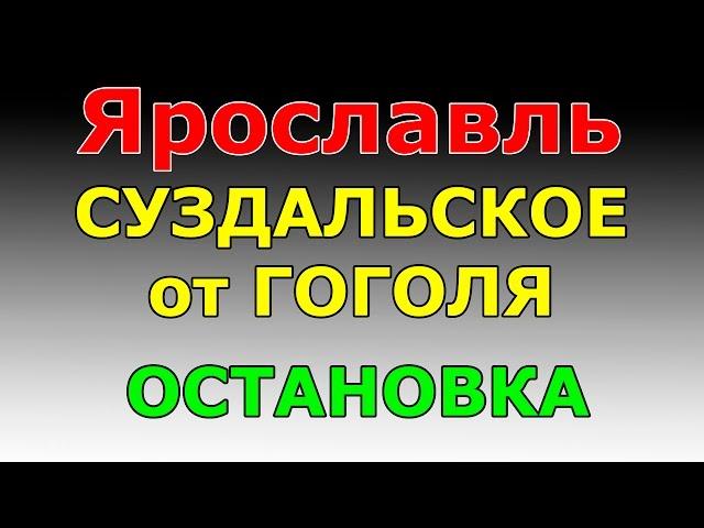ОСТАНОВКА Суздальское шоссе от ул.Гоголя.  маршрут ГИБДД №2 г. Ярославль