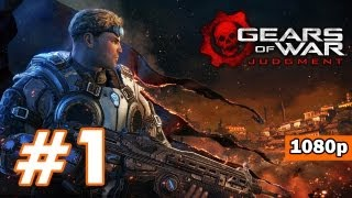 Gears of War: Judgment PART 1 Playthrough [1080p] X360 Lets Play TRUE-HD QUALITY