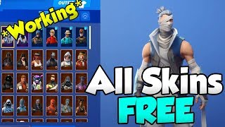 How To GET EVERY SKIN & ITEM FREE in FORTNITE! GLITCH [WORKING Season 9]