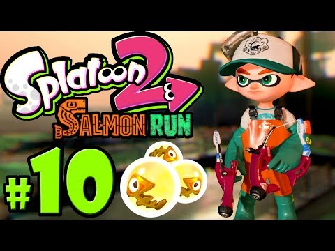 Splatoon 2 - Salmon Run PART 10 - Nintendo Switch Gameplay Walkthrough - Dapple Dualies, Tri-Slosher