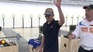 Interview of Will Brown, 10m Air Pistol Men Gold Medalist at the Fort Benning 2013 ISSF World Cup