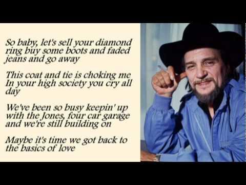 Waylon Jennings - Luckenbach Texas with Lyrics