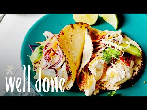 Oven Baked Corn-Crusted Fish Tacos With Asian Slaw | Recipe | Well Done
