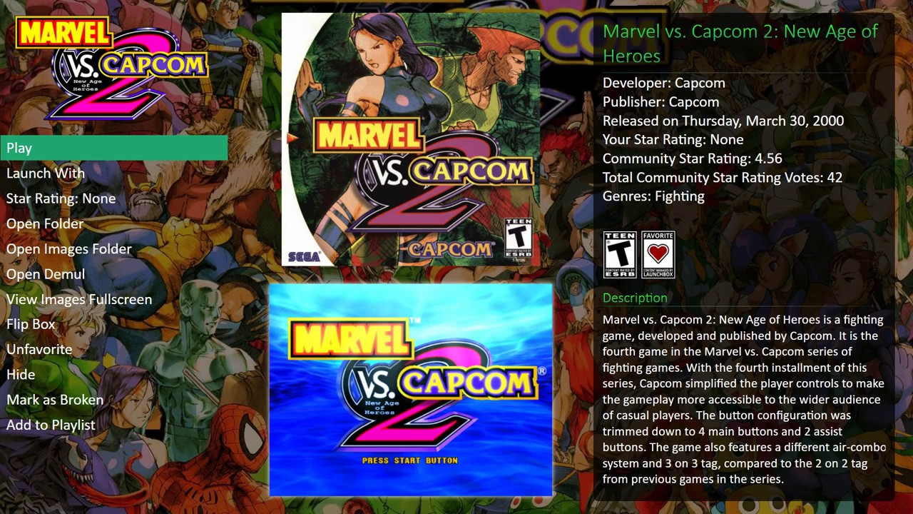 Demul vs Redream - Marvel vs Capcom 2