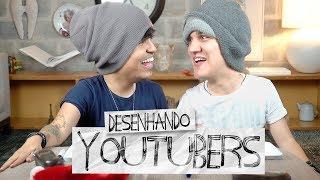 DESENHANDO YOUTUBERS (ft Christian Figueiredo) | NomeGusta
