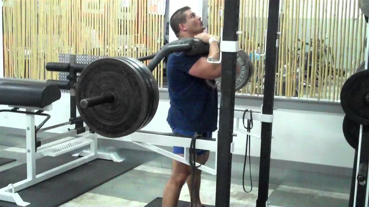 Safety Bar Front Squat - YouTube