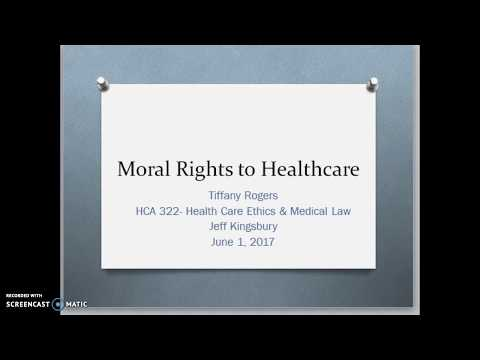 Moral Rights to Healthcare