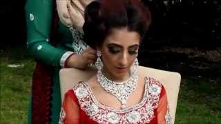 Traditional Red Bridal Hair and Makeup