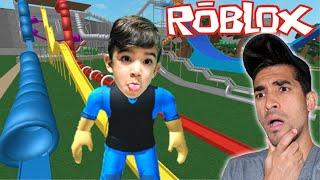PARQUE AQUÁTICO NO ROBLOX - Robloxian Waterpark - Família Rocha Games
