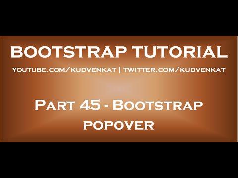 Bootstrap Popover