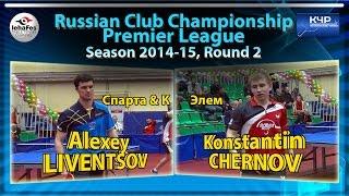 Russian Club Championships Alexey LIVENTSOV - Konstantin CHERNOV Настольный теннис Table Tennis