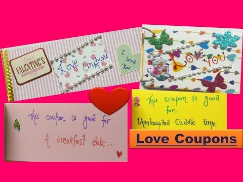 Love Coupon book / DIY Valentine day gift