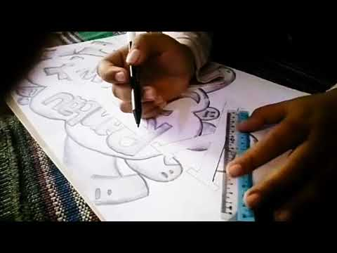 Karya Seni Rupa 2 Dimensi Gravity Doodle X Tkj2 2018 Youtube