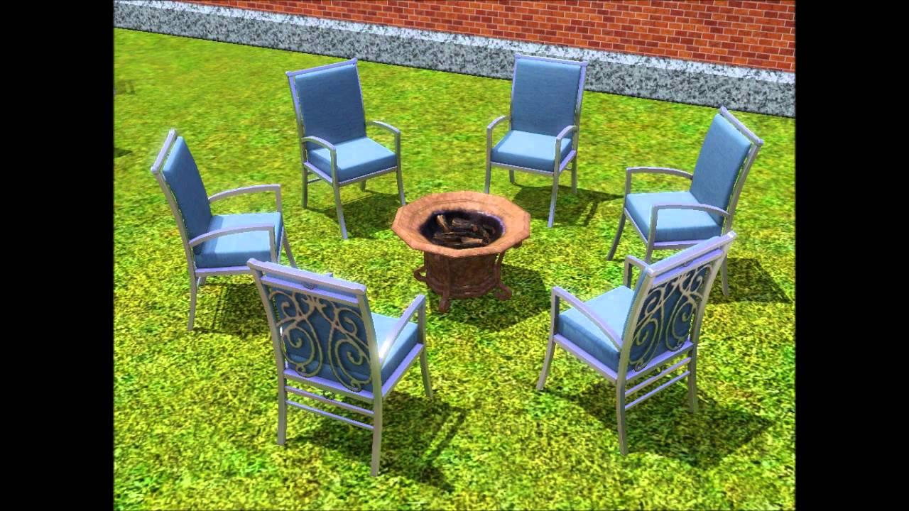 Sims 3 Outdoor Living Stuff Design Garten Accessoires Objects