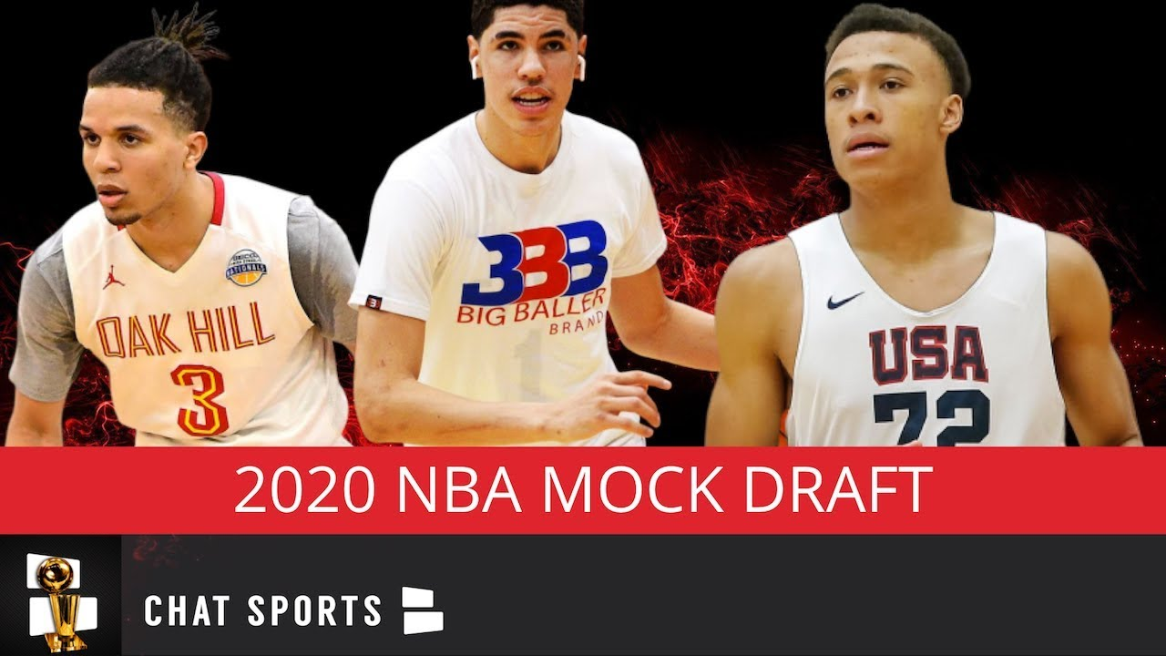 Way Too Early 2020 Nba Mock Draft Feat Lamelo Ball Cole Anthony Rj Hampton